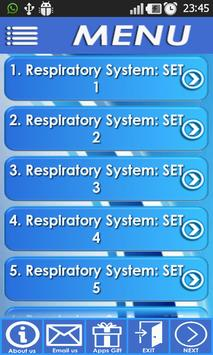 NCLEX Respiratory System exam screenshot 1