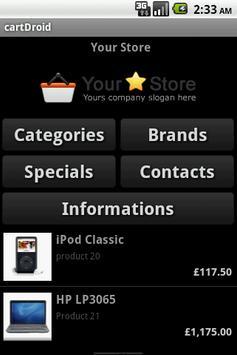 osCommerce openCart Catalog apk screenshot