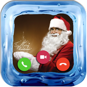 Video calls Santa Claus icon