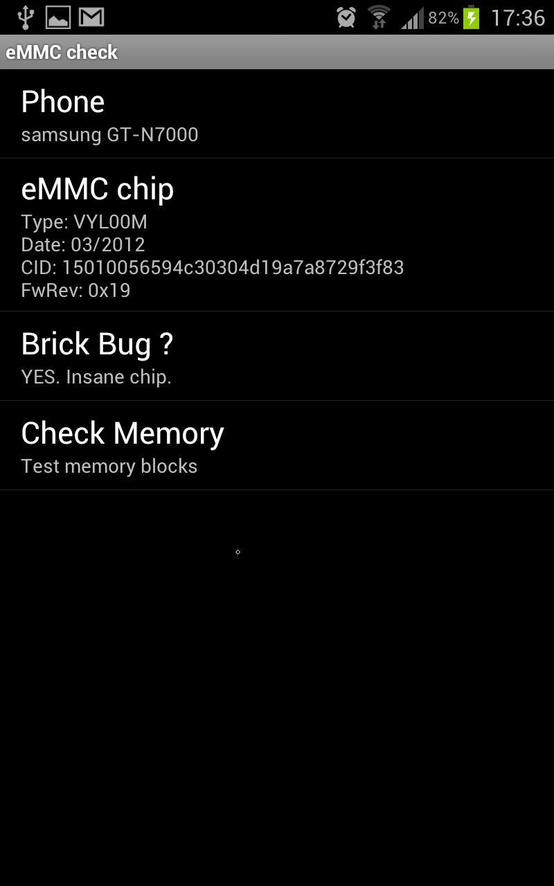 eMMC Brickbug Check for Android - APK Download