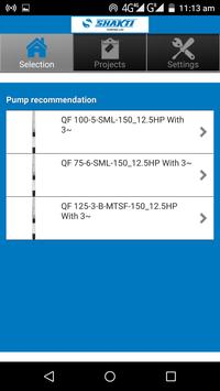 Shakti Pump Selector screenshot 4