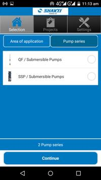 Shakti Pump Selector screenshot 2