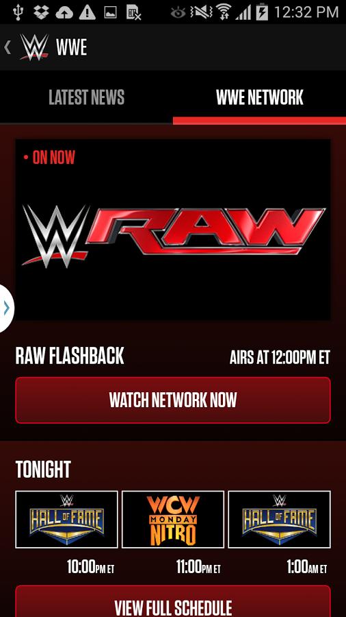 Network download wwe app WWE