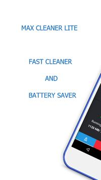 Max Cleaner Lite - Phone Cleaner & Battery Saver poster