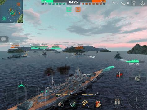 World of Warships Blitz: военно-морской MMO шутер скриншот 9