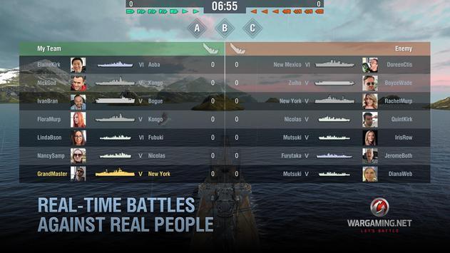 World of Warships Blitz: военно-морской MMO шутер скриншот приложения