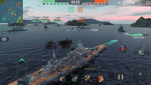 World of Warships Blitz: военно-морской MMO шутер скриншот 14