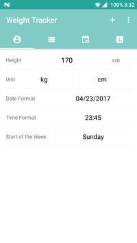 Weight Tracker apk screenshot