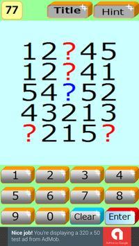 NumberPuzzle1 -Aim for High IQ apk screenshot