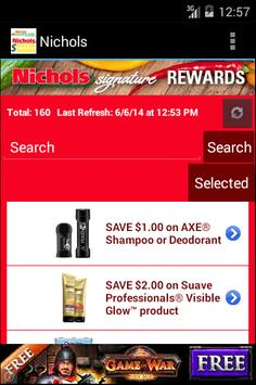 Nichols Digital Coupons screenshot 1