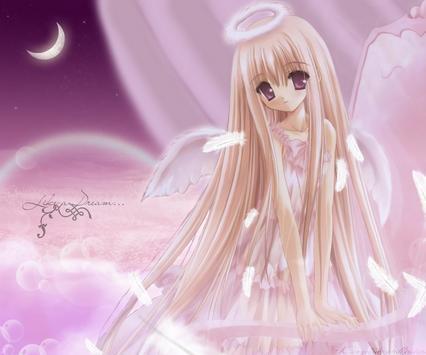3D Angels Wallpaper poster