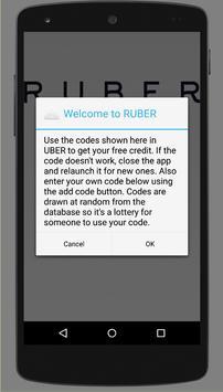 Uber - RUBER REFERRAL CODE APP poster