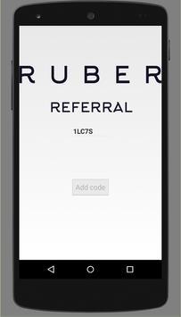 Uber - RUBER REFERRAL CODE APP screenshot 1