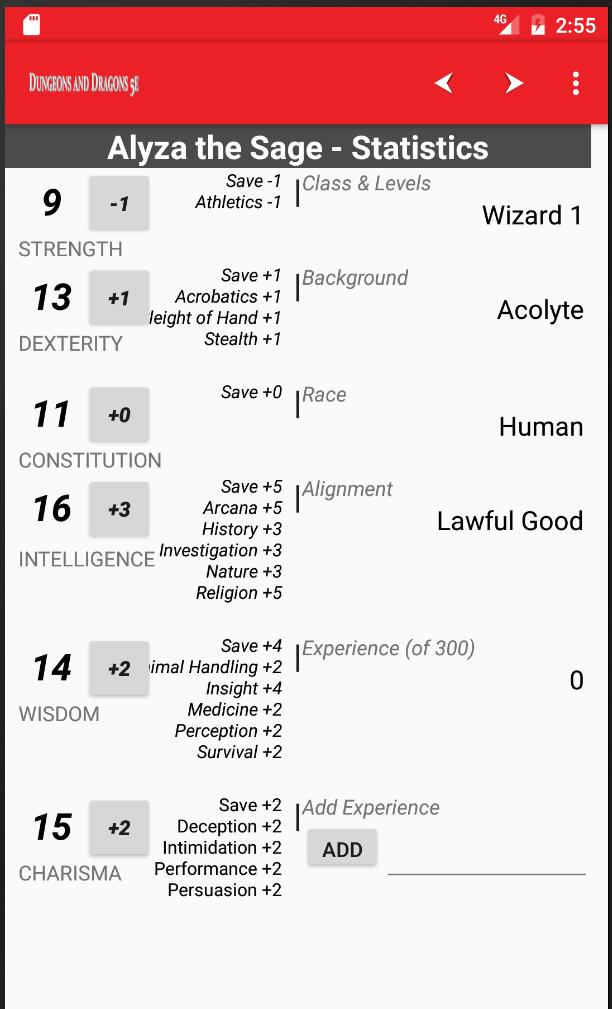 Character Sheet for DnD 5e for Android - APK Download