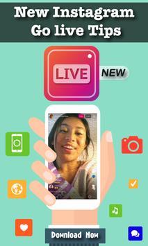 New Instagram Go live Tips poster