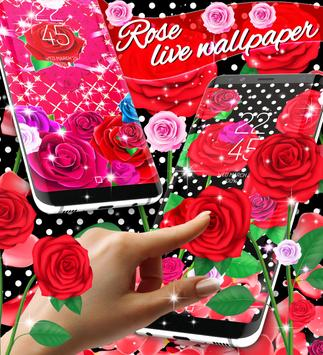 2018 Roses live wallpaper poster