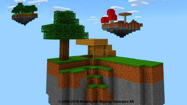Skyblocks Map for minecraft pe mcpe poster