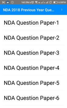 Previous Year NDA 2018 Questions Papers poster