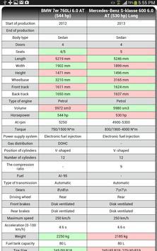Car Compare & Sorting screenshot 1