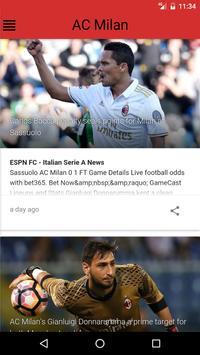 Milan AzApp - AC Milan News apk screenshot