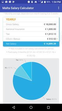 Malta Salary Calculator screenshot 2