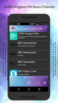 United Kingdom FM Radio poster