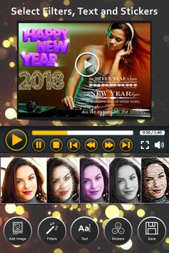Happy New Year Video Maker With Music screenshot 1
