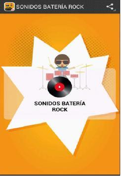 SONIDOS BATERÍA ROCK poster
