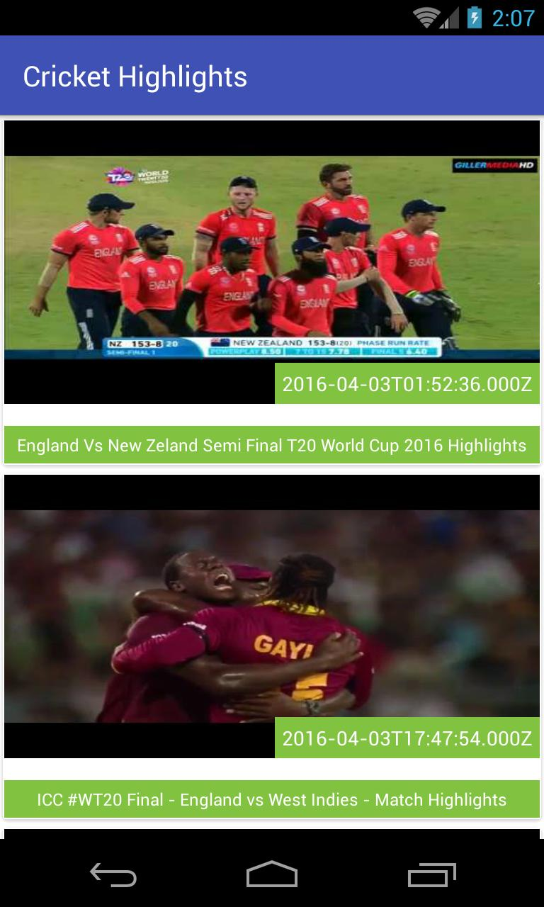 Hd Cricket Highlights For Android Apk Download