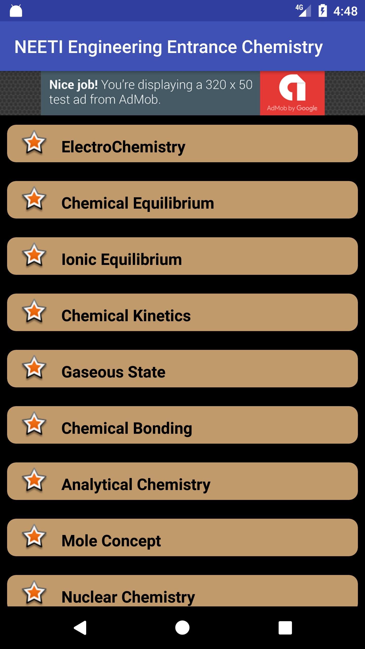 NEET Entrance Chemistry Study Material for Android - APK