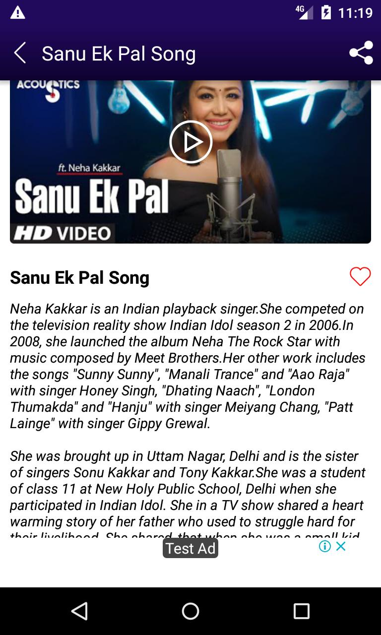 Neha Kakkar Songs Hindi Hit Songs For Android Apk Download Check out bollywood latest indian hindi songs 2019 only at bollywood hungama. neha kakkar songs hindi hit songs for