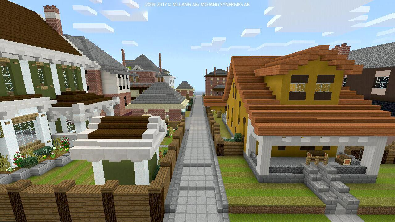Map for MCPE Neighborhood megapolis Minecraft PE for Android
