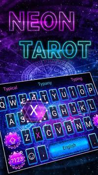 Neon Tarot Theme&Emoji Keyboard poster