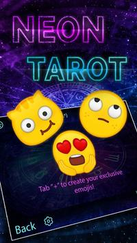 Neon Tarot Theme&Emoji Keyboard apk screenshot