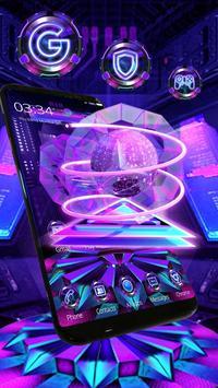 hexagon sphere tech poster