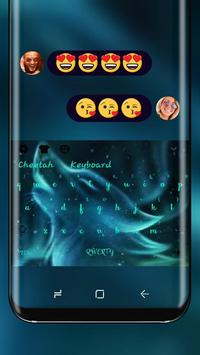 neon wolf wallpaper aurora night swipe keyboard para android apk