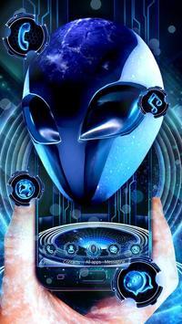 3D Neon Alien Galaxy Theme poster