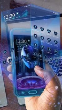 3D Neon Alien Galaxy Theme screenshot 1