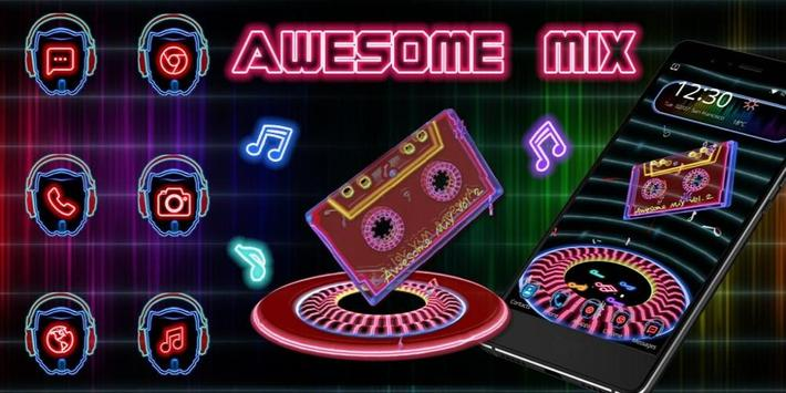 3d Awesome mix theme apk screenshot