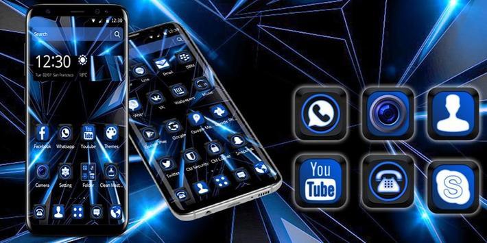 Black Blue Future Theme screenshot 3