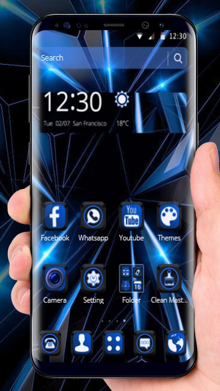 Black Blue Future Theme For Android Apk Download