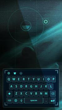 blue neon light future keyboard cyan poster