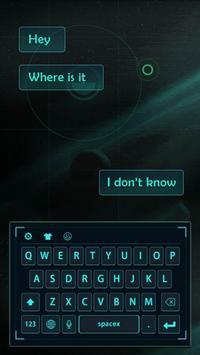 blue neon light future keyboard cyan apk screenshot