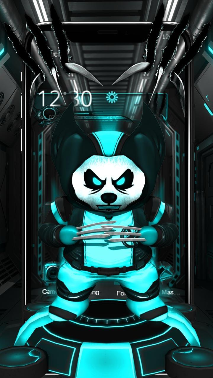3d Neon X Panda Theme For Android Apk Download
