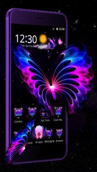 3D Neon Butterfly poster