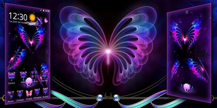 3D Neon Butterfly screenshot 3