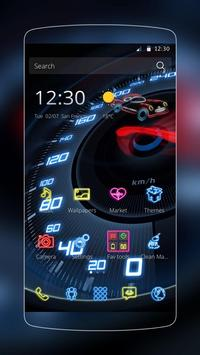 Neon Speedometer Car Theme poster