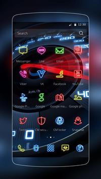 Neon Speedometer Car Theme apk screenshot