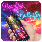 Neon Beautiful Butterfly Theme icon
