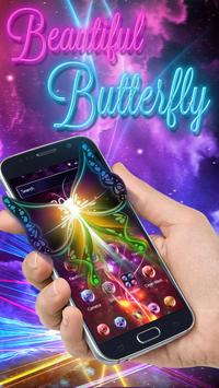 Neon Beautiful Butterfly Theme poster